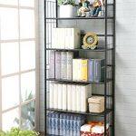 Black-Five-Tier-Metal-Bookshelf-Rack-0