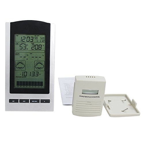 Blackshark-Wireless-Indoor-Outdoor-Digital-Weather-Station-Clock-Monitors-Temperature-Dew-Point-Barometer-and-Humidity-With-a-built-in-Weather-Forecast-Tendency-Indicator-0-0