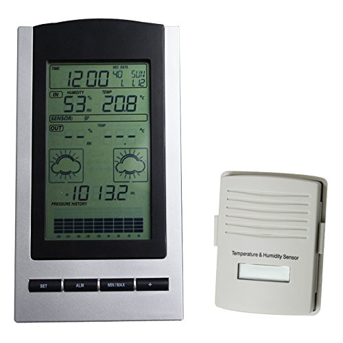 Blackshark-Wireless-Indoor-Outdoor-Digital-Weather-Station-Clock-Monitors-Temperature-Dew-Point-Barometer-and-Humidity-With-a-built-in-Weather-Forecast-Tendency-Indicator-0-1