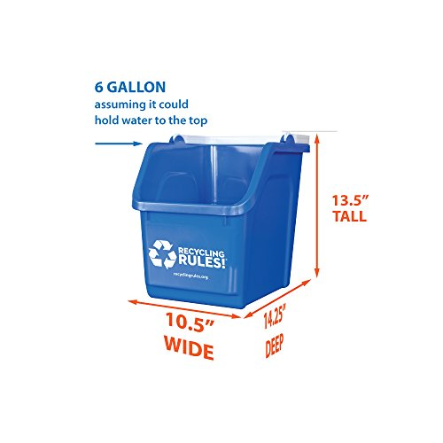 Blue-Stackable-Recycling-Bin-Container-with-Handle-6-Gallon-4-Pack-of-Bins-0-0
