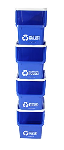 Blue-Stackable-Recycling-Bin-Container-with-Handle-6-Gallon-4-Pack-of-Bins-0-1