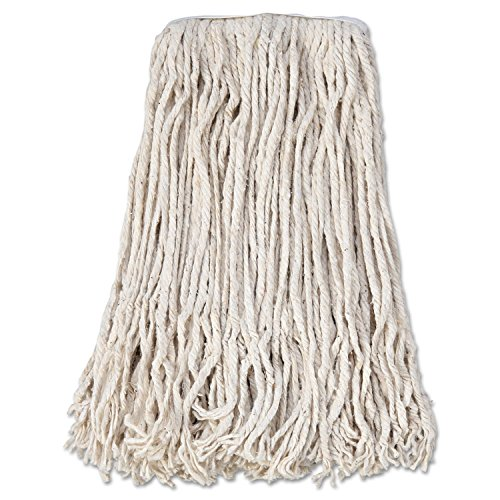 Boardwalk-CM02024S-Mop-Head-Cotton-Cut-End-White-4-Ply-24-Band-Case-of-12-0