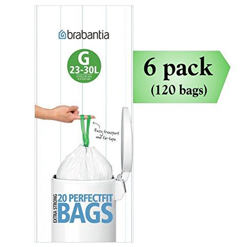 Brabantia-PerfectFit-G-30-Liter-Bin-Liners-20-Ct-Bags-Pack-of-6-0