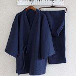 Breathable-Cotton-Pajamas-Suit-Mens-Kimono-Pajamas-Autumnwinter-Bathrobe-0-0