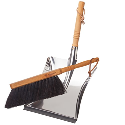 Brstenhaus-Redecker-Dust-Pan-and-Brush-Set-Horse-Hair-Stainless-Steel-and-Beechwood-0
