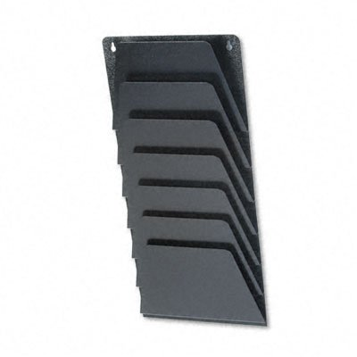Buddy-Products-Mirage-7-Pocket-Wall-Rack-Steel-2-x-215-x-95-Inches-Black-4810-4-0