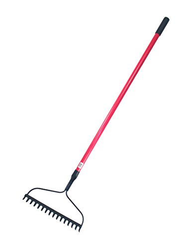 Bully-Tools-92379-12-Gauge-Bow-Rake-with-Fiberglass-Handle-and-16-Tines-66-Inch-0-0