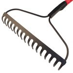 Bully-Tools-92379-12-Gauge-Bow-Rake-with-Fiberglass-Handle-and-16-Tines-66-Inch-0-1