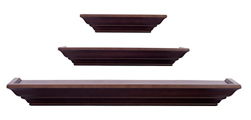 Burnes-of-Boston-LL2931-Level-Line-Walnut-3-piece-Ledge-Set-0-0