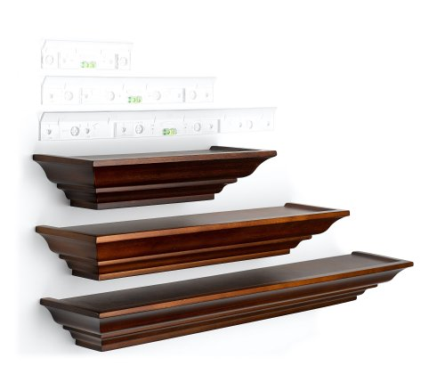 Burnes-of-Boston-LL2931-Level-Line-Walnut-3-piece-Ledge-Set-0