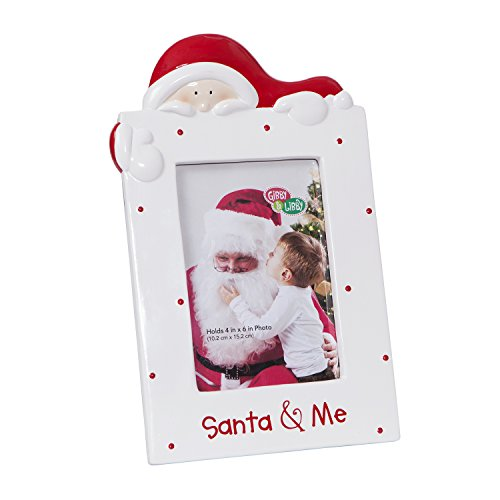 CR-Gibson-Ceramic-Tabletop-Photo-Frame-Gibby-and-LibbySanta-and-Me-0-0