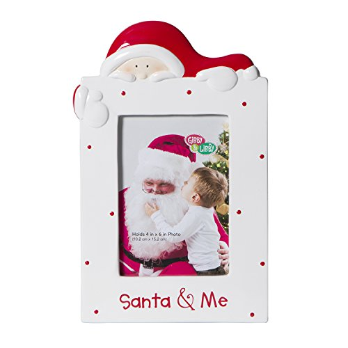 CR-Gibson-Ceramic-Tabletop-Photo-Frame-Gibby-and-LibbySanta-and-Me-0