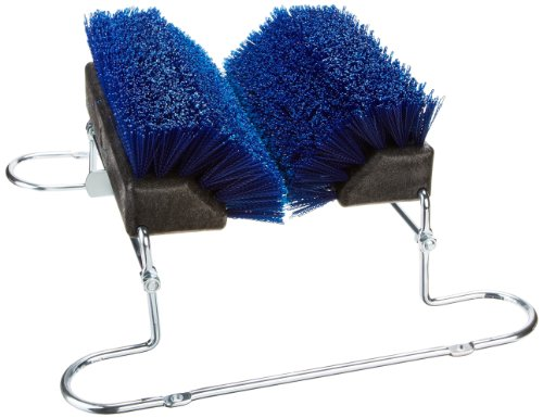Carlisle-4042414-Spectrum-Commercial-Boot-N-Shoe-Brush-Scraper-with-Chrome-Plated-Steel-Frame-Blue-0-0
