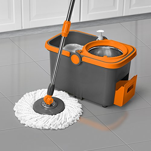 Casabella-Spin-Cycle-Mop-with-Bucket-GraphiteOrange-0-1