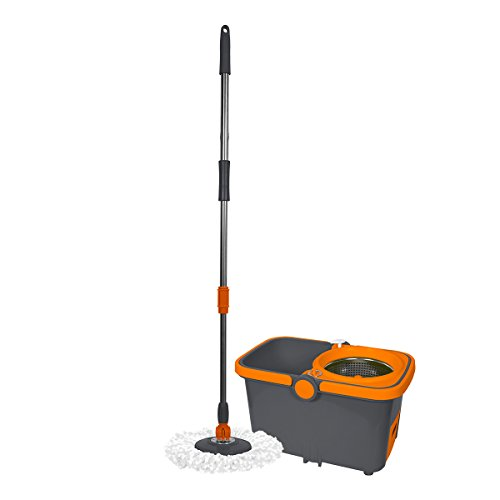 Casabella-Spin-Cycle-Mop-with-Bucket-GraphiteOrange-0
