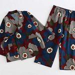 Cherry-Pattern-Tracksuit-AutumnWinter-Cotton-Kimono-Children-s-Kimono-Pajamas-0-0