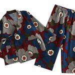 Cherry-Pattern-Tracksuit-AutumnWinter-Cotton-Kimono-Children-s-Kimono-Pajamas-0