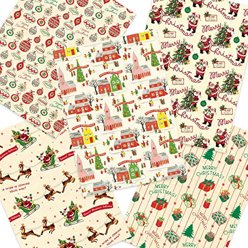 Christmas-Patterns-Vintage-Style-Wrapping-Paper-Set-of-10-Sheets-0-0
