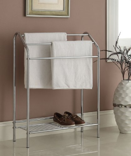 Chrome-Finish-Towel-Bathroom-Rack-Stand-Shelf-0