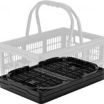 CleverMade-Collapsible-Grocery-Shopping-Basket-16-Liter-169-Quart-Black-0-0
