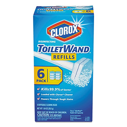 Clorox-14882-CLO14882CT-Disinfecting-Toilet-Wand-Refill-Heads-BlueWhite-Pack-of-48-0