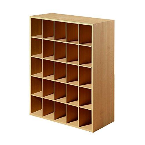 Closet-Shoe-Organizer-Storage-Cabinet-Cube-25-Pair-Floor-Cubby-Espresso-0-1