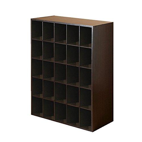 Closet-Shoe-Organizer-Storage-Cabinet-Cube-25-Pair-Floor-Cubby-Espresso-0