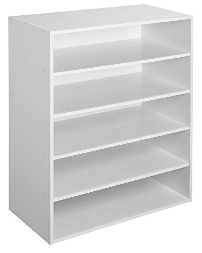 ClosetMaid-1565-Stackable-5-Shelf-Organizer-White-0