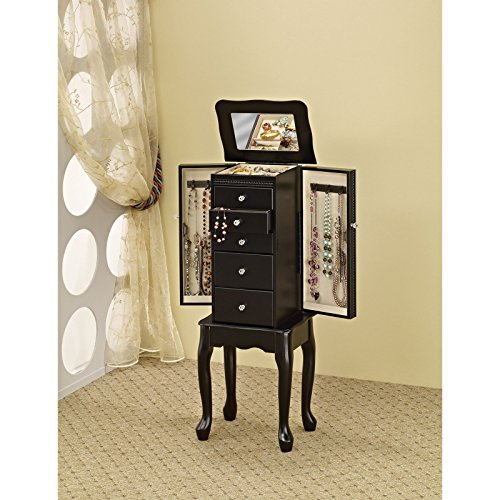 Coaster-Furniture-Black-Jewelry-Armoire-with-Mirror-0-0