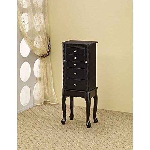 Coaster-Furniture-Black-Jewelry-Armoire-with-Mirror-0