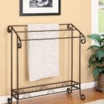 Coaster-Home-Furnishings-900833-Freestanding-Towel-Rack-Dark-Bronze-Finish-0