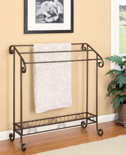 Coaster-Home-Furnishings-900833-Freestanding-Towel-Rack-Dark-Bronze-Finish-0