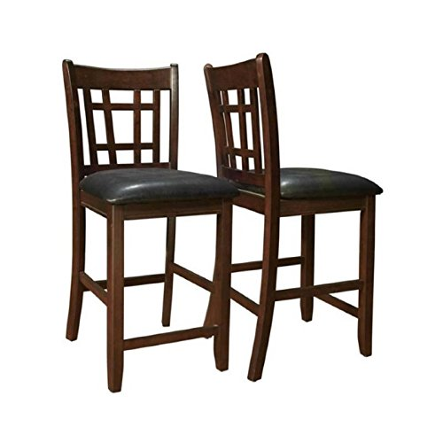 Coaster-Leather-Look-2-Piece-Pub-Chair-24-height-CappuccinoBlack-0-0