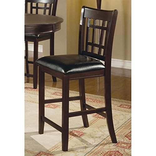 Coaster-Leather-Look-2-Piece-Pub-Chair-24-height-CappuccinoBlack-0