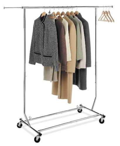CollapsibleFolding-Rolling-Clothing-Garment-Rack-Salesmans-Rack-0
