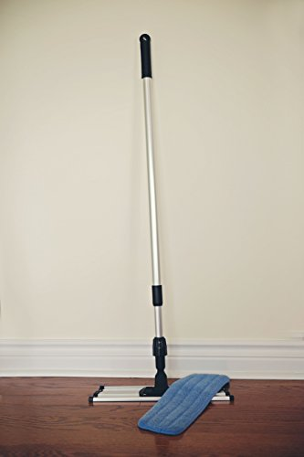 Commercial-Grade-Microfiber-Floor-Dust-Mop-with-a-Washable-Pad-Works-Well-on-All-Surfaces-Telescoping-Handle-Adjusts-to-Your-Height-0-0