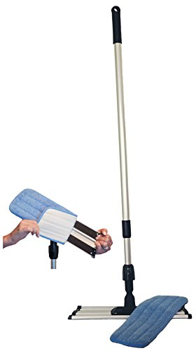 Commercial-Grade-Microfiber-Floor-Dust-Mop-with-a-Washable-Pad-Works-Well-on-All-Surfaces-Telescoping-Handle-Adjusts-to-Your-Height-0