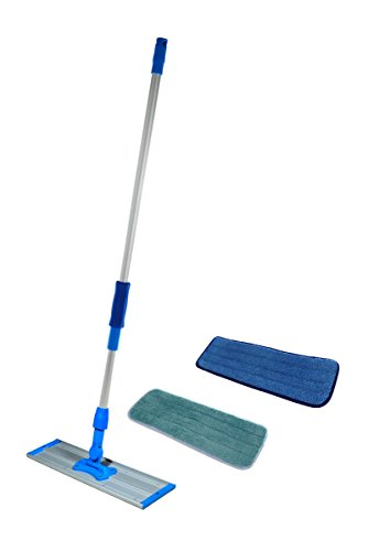 Commercial-and-Janitorial-36-Microfiber-Mop-Telescoping-Aluminum-Handle-and-Two-Microfiber-Pads-By-Real-Clean-0