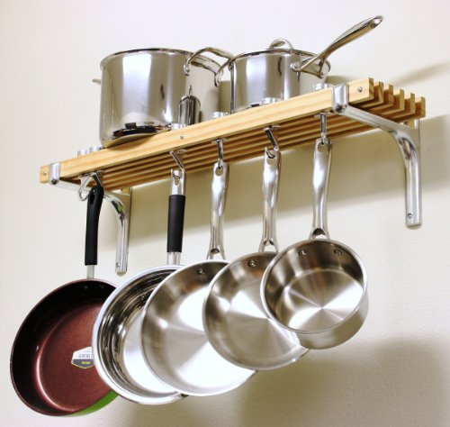 Cooks-Standard-Wall-Mount-Pot-Rack-36-by-8-Inch-0-0