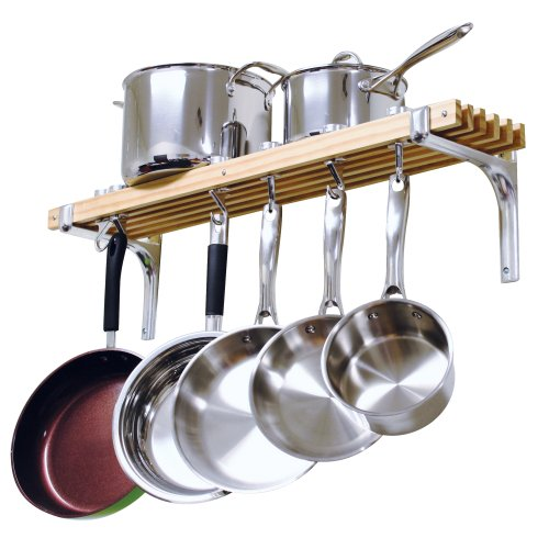 Cooks-Standard-Wall-Mount-Pot-Rack-36-by-8-Inch-0