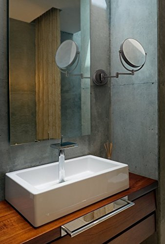 Cordless-LED-Pivoting-9-Wide-Bronze-Wall-Mount-Mirror-0-0