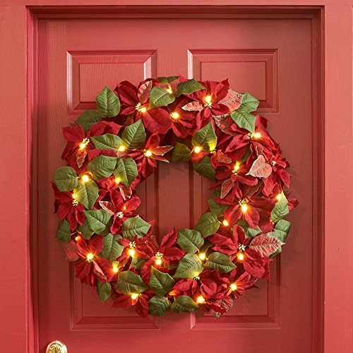 Cordless-Pre-Lit-LED-Poinsettia-Wreath-0