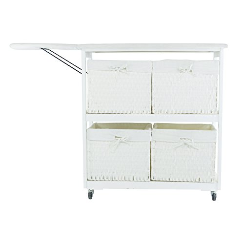 Corner-Housewares-Portable-Ironing-Board-with-Laundry-Baskets-White-0-0