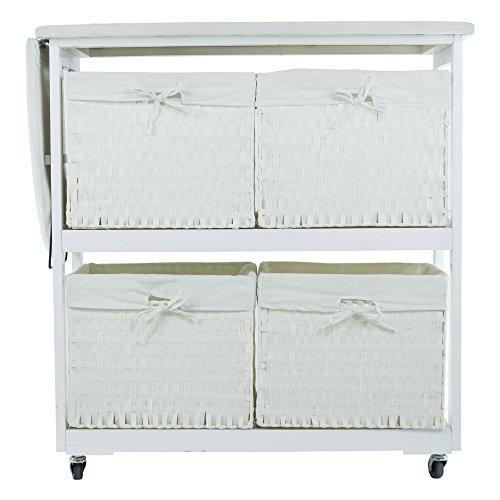 Corner-Housewares-Portable-Ironing-Board-with-Laundry-Baskets-White-0