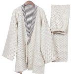 Cotton-Air-Layer-Pajamas-Suit-Tracksuit-Bathrobe-Mens-Kimono-Pajamas-Thickening-0
