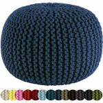 Cotton-Craft-Hand-Knitted-Cable-Style-Dori-Pouf-Floor-Ottoman-100-Cotton-Braid-Cord-Handmade-Hand-stitched-Truly-one-of-a-kind-seating-20-Dia-x-14-High-0