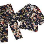 Cotton-and-Linen-Japanese-style-Pajamas-Womens-AutumnWinter-Kimono-Pajamas-0-0