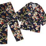 Cotton-and-Linen-Japanese-style-Pajamas-Womens-AutumnWinter-Kimono-Pajamas-0