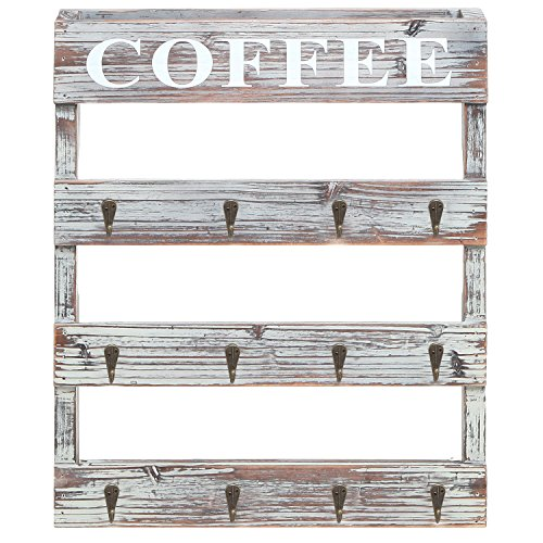 Country-Rustic-Style-Brown-Wood-12-Hook-Wall-Mounted-Coffee-Mug-Rack-Tea-Cup-Holder-Storage-Organizer-0-0