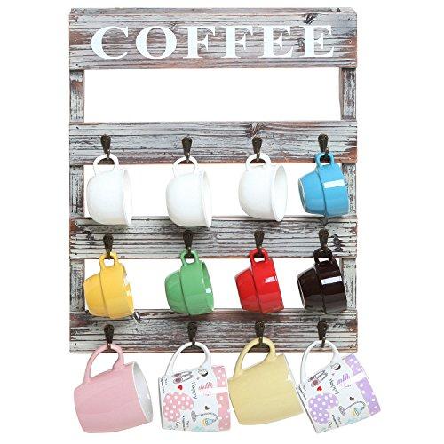 Country-Rustic-Style-Brown-Wood-12-Hook-Wall-Mounted-Coffee-Mug-Rack-Tea-Cup-Holder-Storage-Organizer-0-1